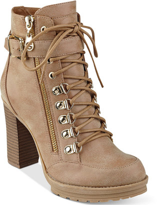 G by GUESS Grazzy Lace-Up Booties $89 thestylecure.com
