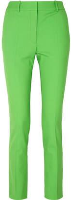 Victoria Beckham Grain De Poudre Stretch-wool Slim-leg Pants