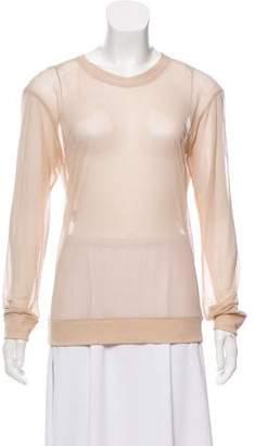Reed Krakoff Long Sleeve Mesh Sweatshirt