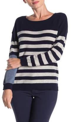 Lynk Knyt & Striped Cashmere Sweater
