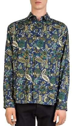 The Kooples Creeps Jungle Button-Down Shirt