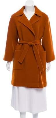 Max Mara Belted Virgin Wool Coat