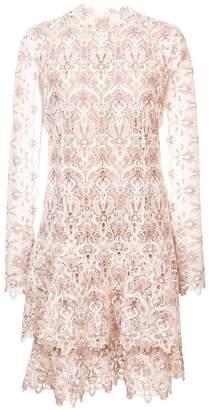 Jonathan Simkhai lace cut-out ruffled dress