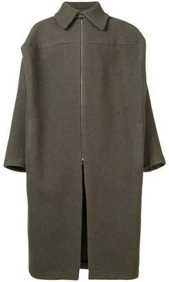 Walter Van Beirendonck oversized zip coat