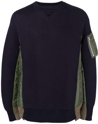 Sacai contrast-panel sweater