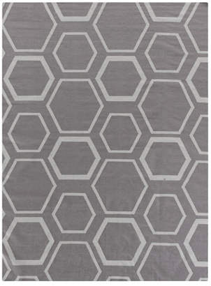 Exquisite Rugs Dark Gray Honeycomb Rug, 8' x 11'