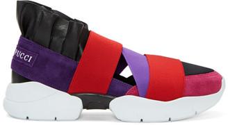 Emilio Pucci Purple & Black Colorblock Slip-On Sneakers $525 thestylecure.com