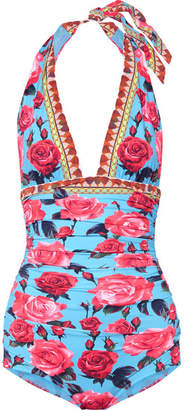 Dolce & Gabbana Floral-print Swimsuit - Pink