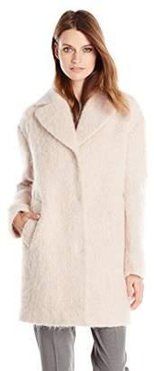 Cole Haan Women's Wool-Blend Cocoon Coat