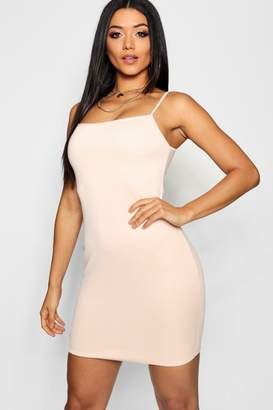boohoo Square Neck Scuba Mini Dress