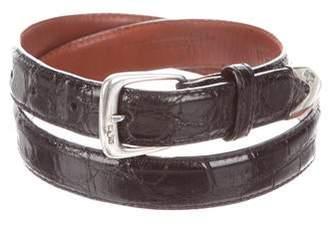 Ralph Lauren Thin Alligator Buckle Belt