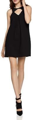 BCBGeneration Faux Leather-Trim Cutout Dress