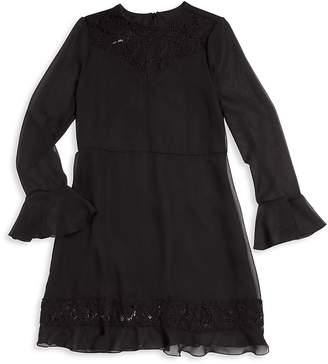 Un Deux Trois Girl's Lace Dress