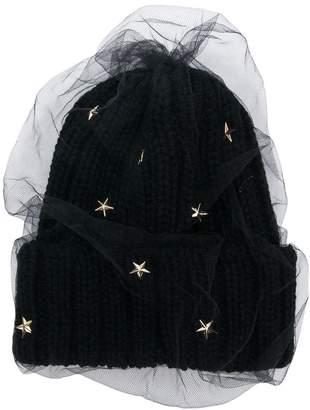 CA4LA star embellished knitted hat