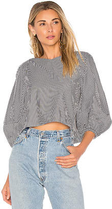 Tibi Cropped Top With Bell Sleeves
