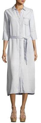 DL1961 Premium Denim Fire Island Maxi Dress, White $198 thestylecure.com