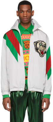 Gucci Grey Oversize Panther Jacket
