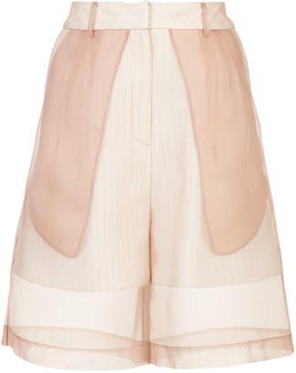 Kimhekim wide-leg organza shorts