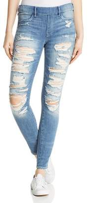 True Religion Jennie Runway Legging Jeans in Washed Out Destroy