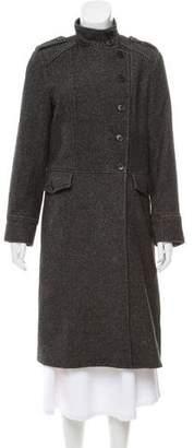 Theory Herringbone Long Coat