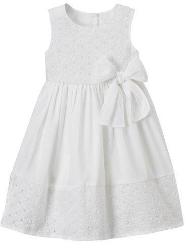 Toddler Girls' Cherokee Eyelet Dot Dress - White