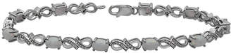 JCPenney FINE JEWELRY Lab-Created Opal and Diamond-Accent Tennis Bracelet