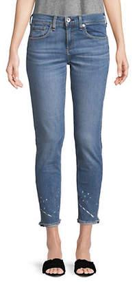 Rag & Bone Paint Splatter Ankle Skinny Jeans