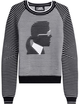Karl Lagerfeld Cotton Blend Pullover