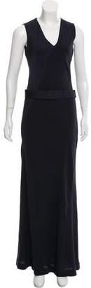 Halston Belted Maxi Dress