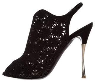 Nicholas Kirkwood Laser Cut Booties Black Laser Cut Booties