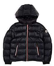 Moncler Kids' Gastonet Down-Quilted Coat - Navy