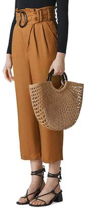 Whistles Amelie Paper-Bag-Waist Pants