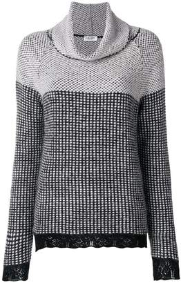 Liu Jo patterned turtleneck sweater