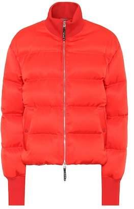 Alexander McQueen Silk-blend puffer jacket