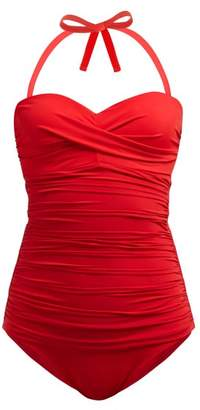Heidi Klein Body Ruched Control Swimsuit - Womens - Red