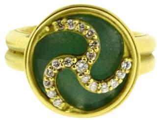 Slane & Slane 18K Yellow Gold Joy Wheel Diamond Ring