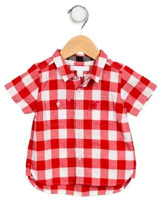 Burberry Boys' Gingham Button-Up Shirt