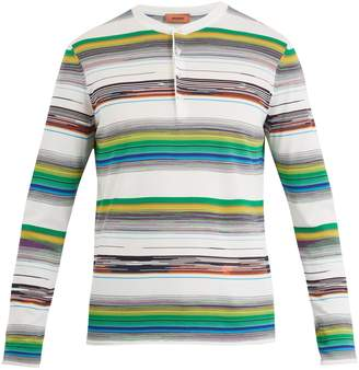 Missoni Open-neck stripe knit cotton sweater