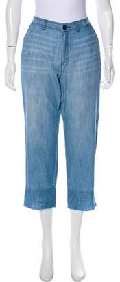 Soft Joie Mid-Rise Straight-Leg Pants