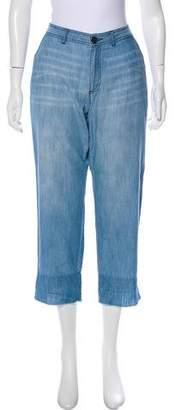 Soft Joie Mid-Rise Straight-Leg Pants