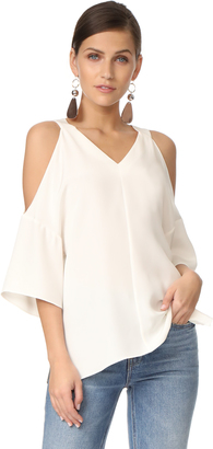 Tibi V Neck Silk Top $425 thestylecure.com