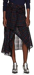 Faith Connexion Women's Checked Shirt Wrap Skirt - Wine