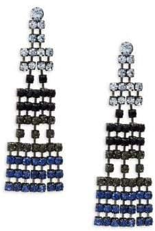 Design Lab Silvertone Geometric Chandelier Earrings