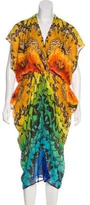 Alexander McQueen Silk Butterfly Print Dress