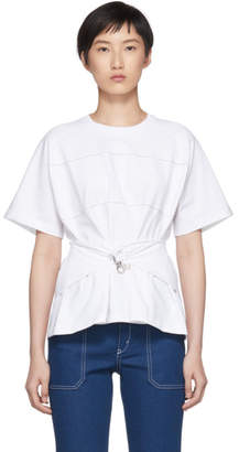 Carven White Belted T-Shirt