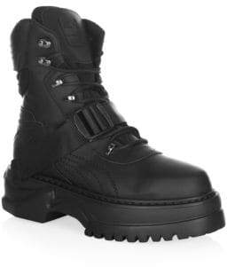 Puma Lace-Up Leather Winter Boots