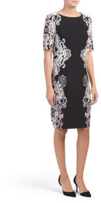 Scoop Neck Lace Sheath Dress