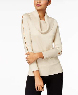 Thalia Sodi Embellished Cowl-Neck Sweater