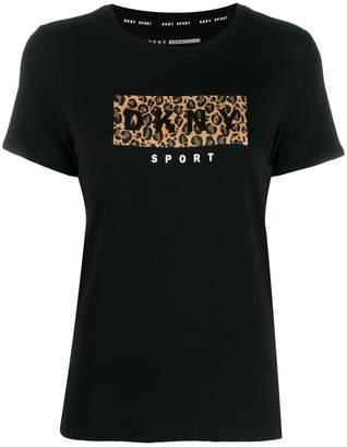 DKNY animal print logo t-shirt