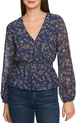 1 STATE 1.STATE Heritage Bouquet Peplum Blouse